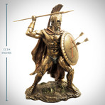 Spartan Warrior King Leonidas Arrows Pose // Cast Bronze Statue