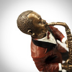 Jazz Man Charlie Parker & Saxophone // Cast Bronze Statue