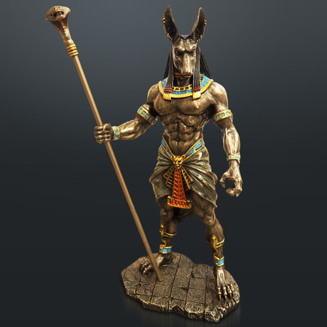 Egyptian God Anubis // Cast Bronze Statue