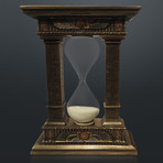 Egyptian Gate Hourglass // Sand Timer Cast Bronze Statue