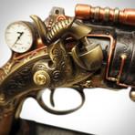Steampunk 6 Barrel Pistol // Cast Bronze Statue