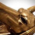 Egyptian God Anubis // Cast Bronze Wall Statue
