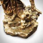 Archangel Michael Fighting Lucifer // Cast Bronze Statue