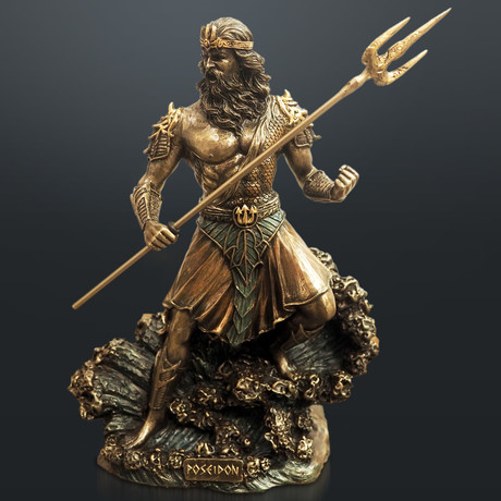 Greek God Of The Sea Poseidon // Cast Bronze Statue