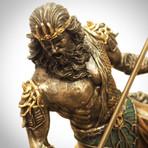 Greek God Of The Sea Poseidon // Cast Bronze Statue
