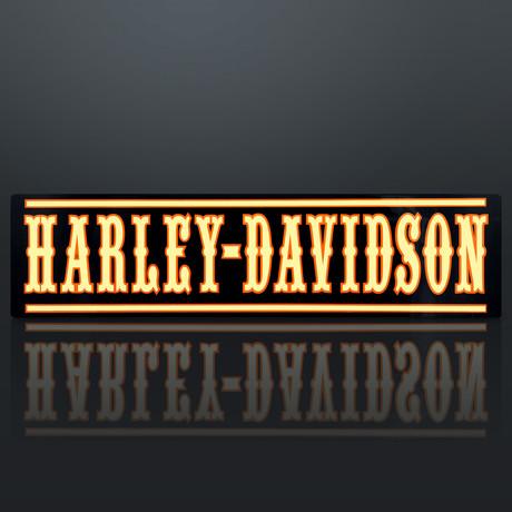 Original Harley Davidson // Traditional Wood Plank // Dealership Sign