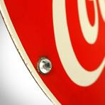 Original Coca-Cola // Vintage Enamel/Porcelain Bar Sign + Display