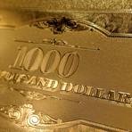 24K Gold-Plated US $ Bills // High Roller Custom Frame ($100 USD)