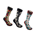 Illusion Box Sock // Set of 3 (M)