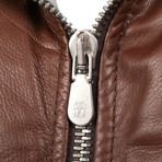 Kaskade Leather Two Tone Puffer Vest // Brown (M)