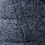 Kygo Reversible Alpaca Puffer Vest // Blue + Gray (S)