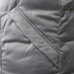 Kygo Reversible Alpaca Puffer Vest // Blue + Gray (2XL)