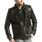 Ultimate Moto Jacket // Brown (XS)