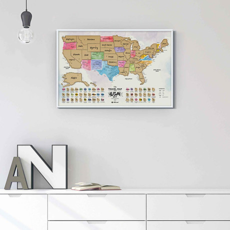 Travel Map // USA Art