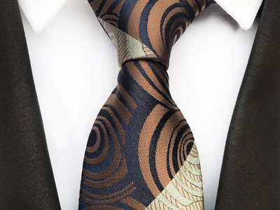 Photo of St Lynn Sophisticated Silk Ties Handmade Neck Tie // Navy + Coffee by Touch Of Modern