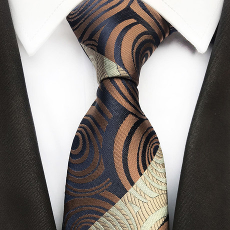 Harrison Silk Tie // Navy + Coffee
