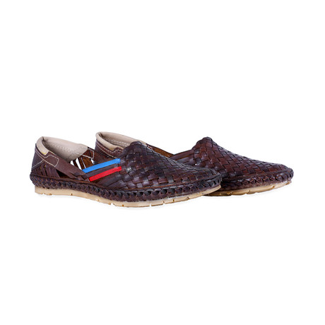 Holas Leather Sandals // Brown + Blue + Red (UK: 7)