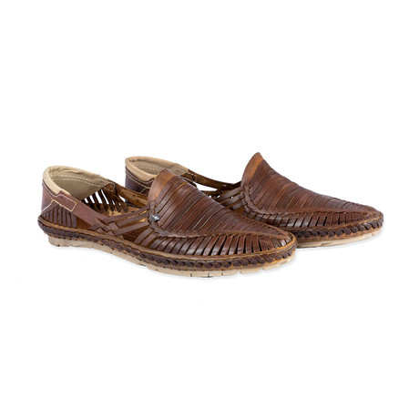 Rey Leather Sandals // Brown (UK: 6)