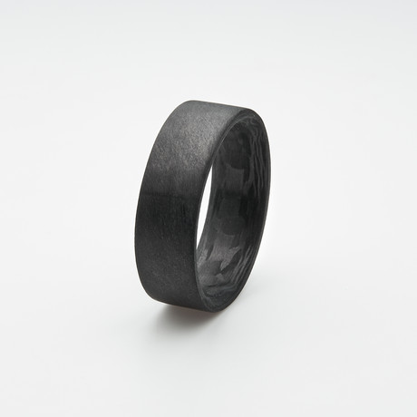 Pure Carbon Fiber Ring // Unidirectional Pattern // Matte Finish (Size 6)