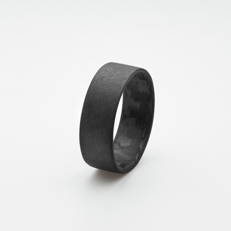 Pure Carbon Fiber Ring // Ultra-Thin (Size 6)