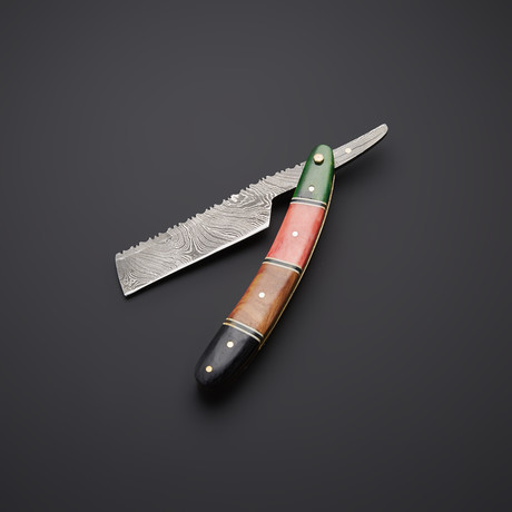 Rainbow Bow Damascus Steel Blade // SH-9
