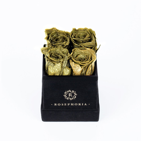 4 Rose Box // Gold
