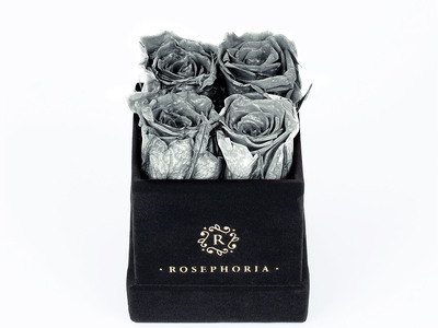 ROSEPHORIA Everlasting Roses 4 Rose Box // Silver by Touch Of Modern - Denver Outlet