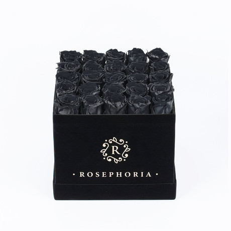 24 Rose Square Box  // Black