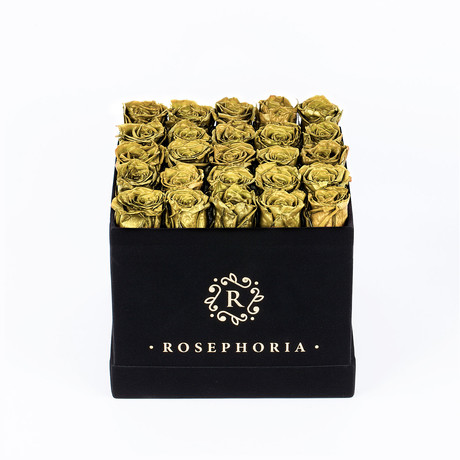 24 Rose Square Box // Gold