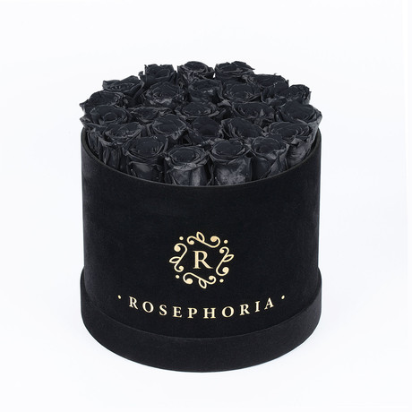24 Rose Round Box // Black