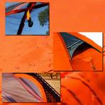 Dome Camping Tent (Orange)