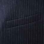 Afrojack Blue Pinstripe Suit Vest // Blue (Euro: 48)