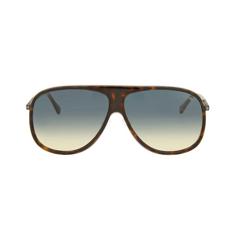 Tom Ford // Chris Sunglasses // Havana + Blue Gradient