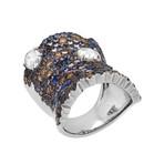 Stefan Hafner Pegaso 18k White Gold Diamond + Sapphire Ring // Ring Size: 7.25