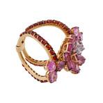 Stefan Hafner Promise 18k Rose Gold Diamond + Sapphire Ring // Ring Size: 7.25