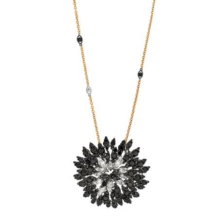 Stefan Hafner Cigni 18k Rose Gold Diamond Necklace