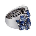 Stefan Hafner Acqua Preziosa 18k White Gold Diamond + Sapphire Ring // Ring Size: 6.25