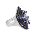 Stefan Hafner Angelica 18k White Gold Diamond + Sapphire Ring // Ring Size: 6.75