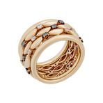 Stefan Hafner 18k Pink Gold Diamond Brown Diamond Ring // Ring Size: 7