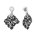Stefan Hafner 18k White Gold Diamond + Black Diamond Earrings