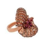 Stefan Hafner Angelica 18k Rose Gold Diamond + Topaz Ring // Ring Size: 7.5