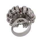 Stefan Hafner Leo18k White Gold Multi-Stone Ring // Ring Size: 7.25