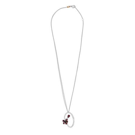 "Stefan Hafner Aristocratica 18k White Gold Diamond + Tourmaline Necklace // Necklace Length: 17.5"""