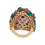 Stefan Hafner Pianeti 18k Rose Gold Multi-Stone Ring // Ring Size: 7