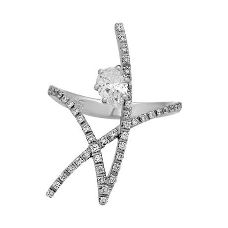 Stefan Hafner Cosmos 18k White Gold Diamond Ring // Ring Size: 6.25