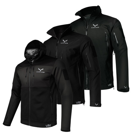 3-Layer Jacket System // Helios + Astraes + Proteus // Black (S)