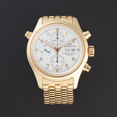 IWC Yellow Gold Doppelchrono Automatic // 3713 // Pre-Owned