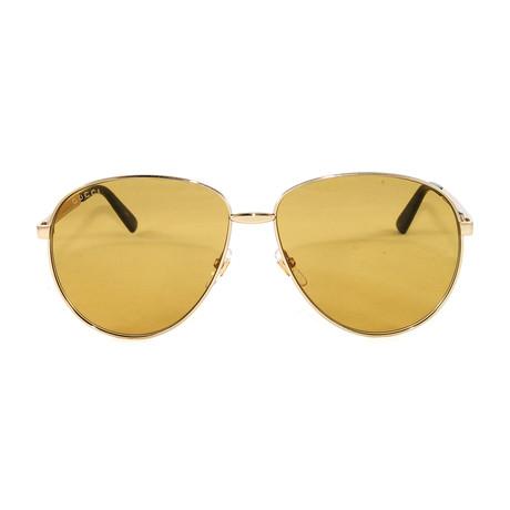 GG0138S Sunglasses // Gold