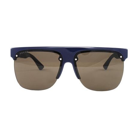 Men's GG0171S Sunglasses // Blue + Black