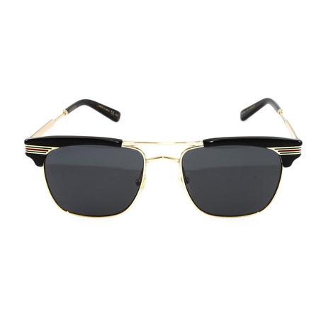 Unisex GG0287S Sunglasses // Black + Gold
